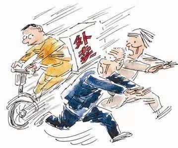 我们总能看到身着工作服骑着电动车穿梭于大街小巷的外卖送餐人员.