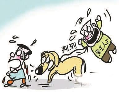 文明遛狗卡通图片